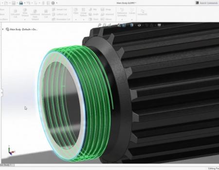 3D CAD Maskintegning 2